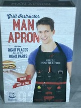 """The Man Apron """"Grill Instructor"""" / new in box : one size fits most Cute! - $19.79"""