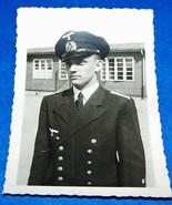 ORIGINAL WW2 GERMAN PHOTO: YOUNG KRIEGSMARINE OFFICER POSES - $10.00