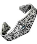 Alchemy Gothic Ouija Eye Bangle Pewter Cuff Bracelet Taxidermy Eye Magic... - $54.95