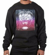 LRG Men's Charcoal Heather or Black Triple Threat Lion Crewneck Sweater NWT