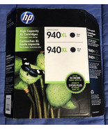 New Genuine HP 940XL Black Ink Cartridges Twin Pack  2 Pack - Expired 12... - $8.01