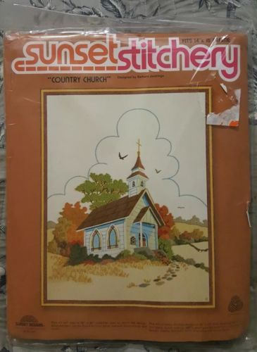 Sunset Stitchery Country Church Cross Stitch And 50 Similar Items 12