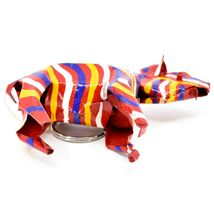 Handcrafted Painted Colorful Recycled Aluminum Tin Can Zebra Ornament Zimbabwe image 6