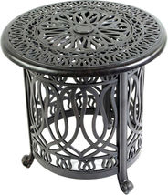 Santa Anita outdoor patio 3-piece cast aluminum bistro set table chairs swivels image 4