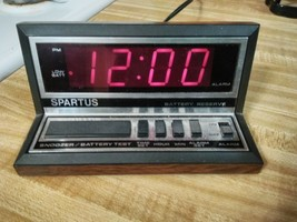 Vintage Spartus Apollo Alarm Clock Model 1140 Works - $10.40