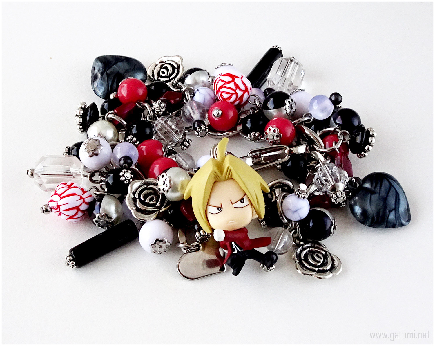 Primary image for FMA Ed Charm Bracelet, Handmade Jewelry, Anime, Kawaii, Stainless Steel