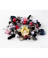 FMA Ed Charm Bracelet, Handmade Jewelry, Anime, Kawaii, Stainless Steel - $54.00