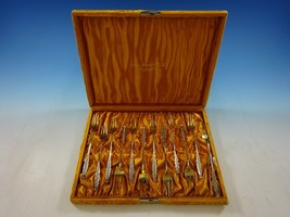 Number # 10 by Whiting Sterling Silver Set of 12 Cocktail Forks in Original Box - $483.55