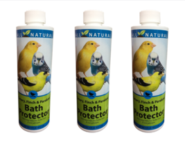 3 Pack 16 oz Care Free Enzymes Canary, Finch & Parakeet Bath Protector 9... - $34.58