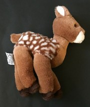 Russ Berrie Faith Fawn Young Deer Plush Stuffed Animal Spotted Toy - $11.87