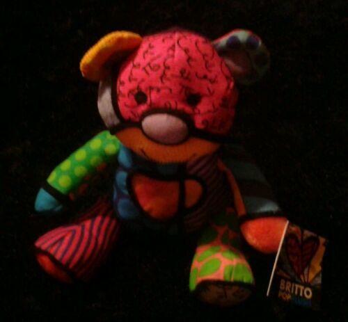 Romero Britto Pop Plush Tallulah The Teddy Bear Enesco Mini NWT