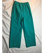COLUMBIA Green Nylon Waterproof RAIN PANTS Windbreaker Hiking Sz Kid YOU... - $14.01