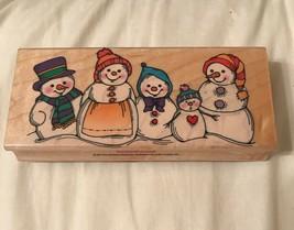 Hero Arts H099 Snow Men Snow People Rubber Stamp Christmas 1995 - $9.95