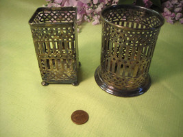 Vintage Silver Plated Holders By BRS Inc. APOLLO EPNS Round & Square Int... - $28.50