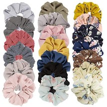 Cubaco 20 Pack Chiffon Flower Scrunchies Hair Scrunchies for Womens Girl... - $11.63