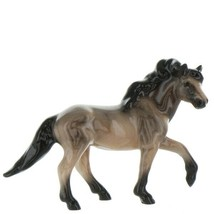 Hagen Renaker Miniature Horse Mustang Stallion Light Bay Ceramic Figurine image 1