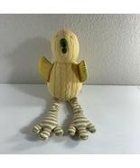 "Pottery Barn Kids Duck Plush Stuffed Animal Cable Knit 18"" Long Pale Yel... - $34.65"