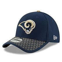 Era Men's Los Angeles Rams Sideline 2017 On-Field 39Thirty Flex Hat ML - $27.74