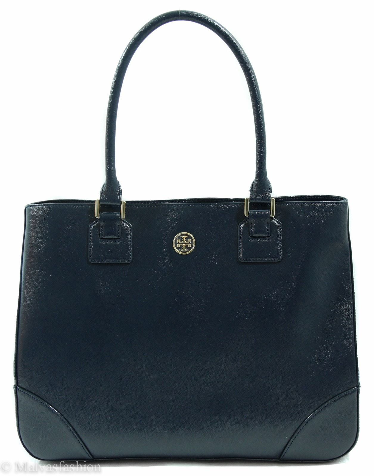 Primary image for NWT Tory Burch Robinson East/West Tote Handbag Bag, Blue