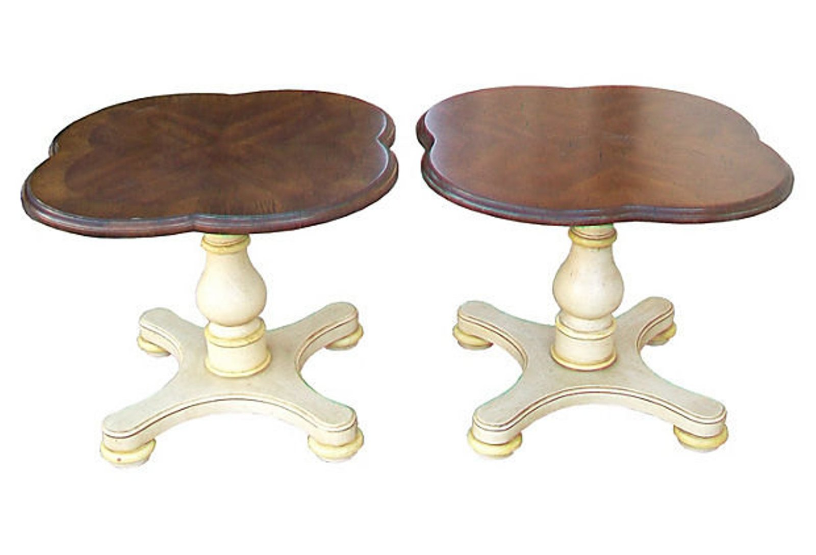 Drexel quatrefoil end tables
