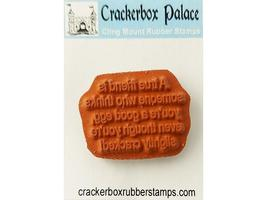 """Crackerbox Palace """"A true friend..."""" Sentiment Rubber Cling Stamp image 2"""