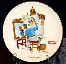 "Norman Rockwell  1894- 1978 ""Triple Self Portrait""  Gorham AA20- CP2263 Vintage - $79.95"