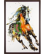 Painting JOHN-RICHARD Leiming's Running in the Wind Horse - $3,089.00