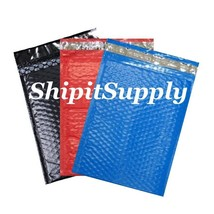 3-300 #0 6.5x10 ( Black Red & Blue ) Combo Color Poly Bubble  Extra Wide... - $3.46+