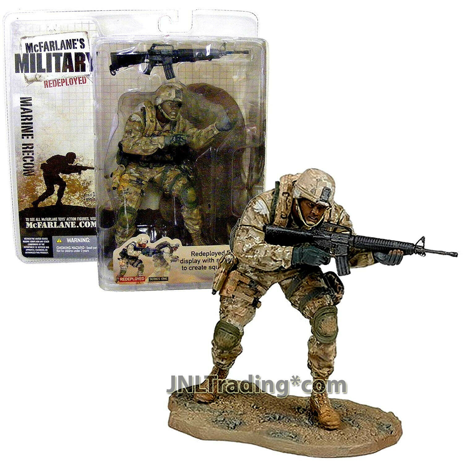 """Year 2005 Military Redeployed 6"""" Soldier Figure MARINE RECON (African American)"""
