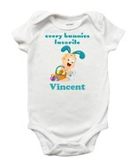 Every Bunnies Favorite Onesie - Personalized Easter Onesie for Baby Boys - $13.99