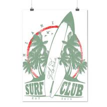 Surf Club Miami Holiday Florida USA Matte/Glossy Poster A0 A1 A2 A3 A4 |... - $7.99+