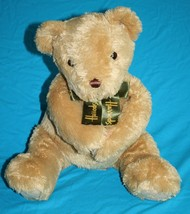 "Harrods TEDDY BEAR 12"" Soft Toy Beige Plush Bow Magnet Hands Mouth Head ... - $48.36"