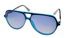 Fila Matte Blue Mens Plastic Aviator Sunglass,  Smoke Gradient Lens SF93... - $22.49