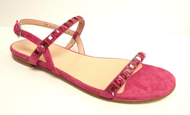 New STUART WEITZMAN Size 8.5 TRAILMIX Hot Pink Sandals w/ Gems Shoes 8 1/2 - $149.00