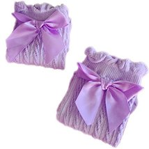 Baby Socks Lovely Bow Cotton Summer Infant Stocking 1-4 Years Old(Purple) image 1