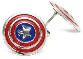 Marvel Comics Captain America Stud Shield Earrings Officially Licensed by MARVEL - $18.00