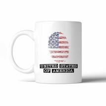 USA Fingerprint Flag 11 Oz Ceramic Coffee Mug 4th of July Gifts - $14.99