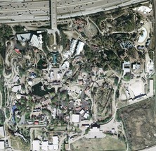 Arial View Astroworld Map Poster 24 X 24 Inches Beautiful Nostalgia Houston Tx - $19.94