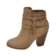 Soda ELISA-S Warm Taupe Women's Strappy Tassel Ankle Booties - $37.95