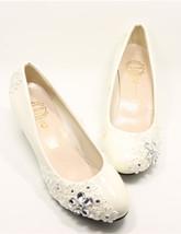 Women kawaii Bridal Wedge,Cute wedding Heels,bridesmaid Wedge uk 3,4,5,6,7,8 - $39.99