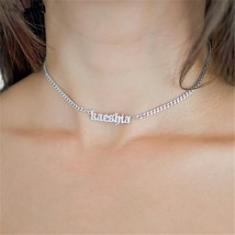 Women Bridesmaid Gift Custom Jewelry Old English Name Necklaces - $99.90