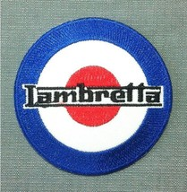 Lambretta Target Iron-on/sew-on Embroidered Patch Scooter / MOD (Pack of... - $12.17