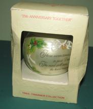 Vtg Hallmark 1979 25th Anniversary Ornament Betsey Clark Bells Glass ball Box - $8.49