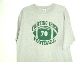 Football Fighting Irish Tee 100 percent 100 percent of the time 2XL gray... - $19.75
