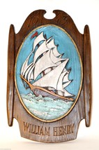 WILLIAM HENRY 1673 Royal Navy Sea Nautical Relief Sail Ship Boat Wall Pl... - $8.32