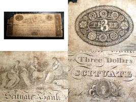 Scituate Bank Elmdale Rhode Island 1827 Scarce -probably - earlist exist... - $1,979.01
