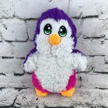 Fiesta Penguin Plush Pink Purple Shaggy Standing Stuffed Animal Soft Cut... - $9.89