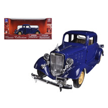 1933 Chevrolet 2 Passenger 5 Window Coupe Blue 1/32 Diecast Model Car by New Ray - $27.71