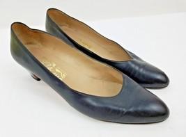 Salvatore Ferragamo Black Classic Pumps Women's Slip On Shoes 9.5 AAA Na... - $16.82