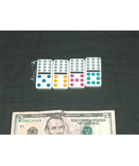 4 NEW Sealed Dominoes Double Twelve Missing Replacement Jumbo Colored Tiles - $9.88